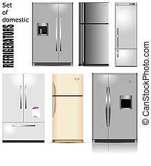 Domestic refrigerator with unit for cold water