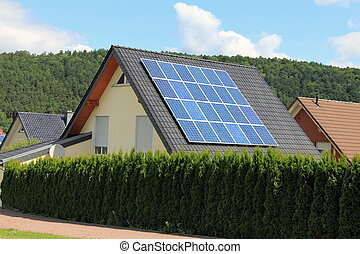 Domestic solar panels - Solar panels allow the production of...