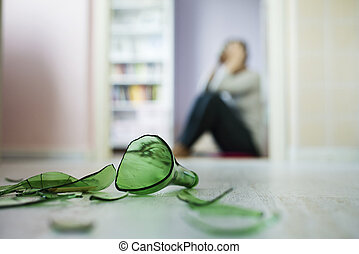 Domestic violance - Woman victim of domestic violence and...