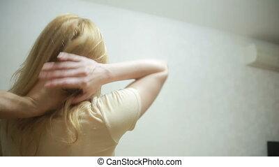 domestic violence, a man beats his wife