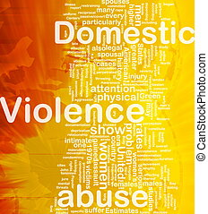 Domestic violence concept diagram