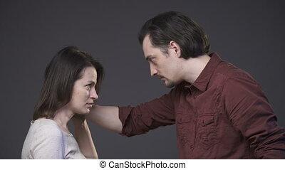 Domestic violence to woman - Domestic violence - aggressive...