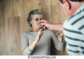 Domestic violence - Woman victim of domestic violence and ...