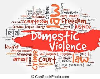Domestic Violence word cloud concept