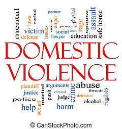 Domestic Violence Word Cloud Concept with great terms such...