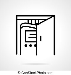 Domestic water filter vector icon
