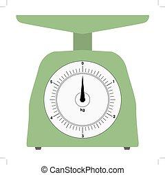domestico, colorato, weigh-scales