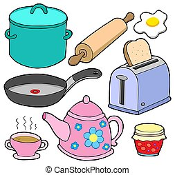 Domestics collection 1 - isolated illustration.