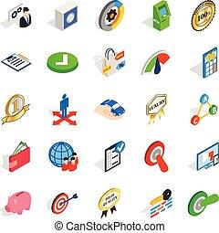 Dominance icons set, isometric style - Dominance icons set....