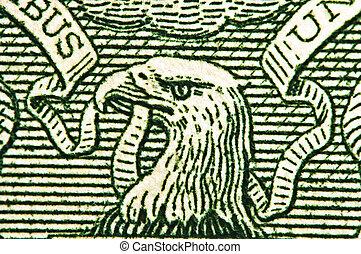 dominanza, conto, magnification., dollaro, massimo, eagle., strategy., successo, stati uniti, 1, affari, aquila, uno, americano, concetto