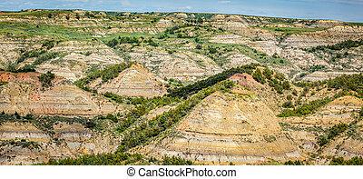 dominar, dakota, pintado, cañón, norte