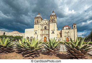 domingo, mexikó, ellen-, guzman, oaxaca, templom, santo