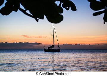 Dominica Caribbean Island Sunset