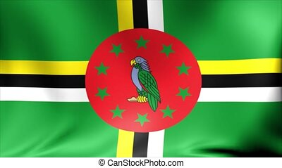 Dominica Flag. Background Seamless Looping Animation.