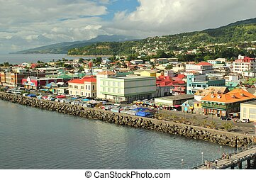 View of the beautiful island of Dominica in the Caribbean