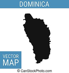 Dominica vector map with title