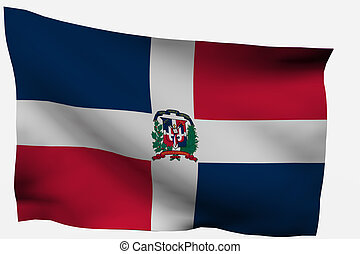 Dominican Republic 3d flag isolated on white background