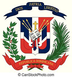 Dominican Republic coat of arms - Coat of arms of national ...