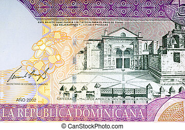Bank Note - Dominican Republic Fifty Peso Bank Note Close Up...