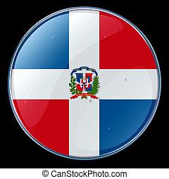 Dominican Republic Flag Button - Dominican Republic Flag, ...