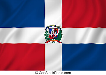 Dominican Republic national flag background texture.