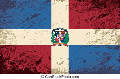 Dominican Republic flag. Grunge background. Vector...
