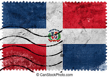 Dominican Republic Flag - old postage stamp