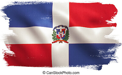 Dominican Republic Flag - Dominican Republic flag with...