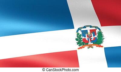 Dominican Republic Flag Waving