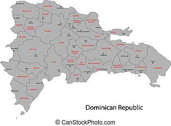 Dominican Republic map - Dominican Republic map with...