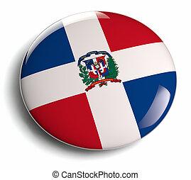 Dominican Republic national flag badge.