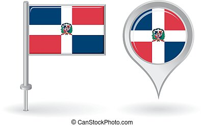 Mexico cuba haiti dominican republic flag location map vector