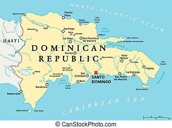 Dominican Republic Political Map