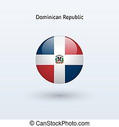 Dominican Republic round flag. - Dominican Republic round...