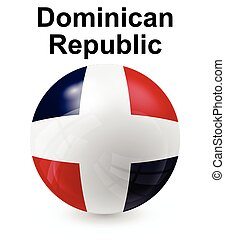 dominican republic state flag - dominican republic official...