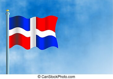 Dominican Republic - National flag of the Dominican...