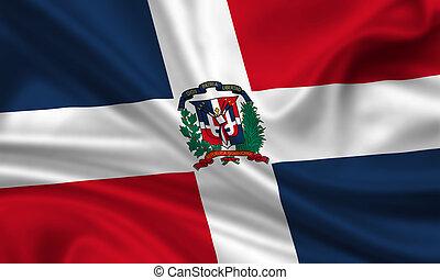 Dominican Republic - waving flag of the dominican republic
