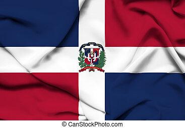Dominican Republic waving flag