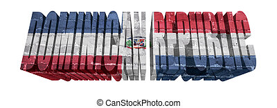Dominican Republic Word - National Flag of Dominican ...