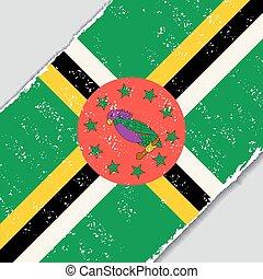 dominicano, grunge, flag., vetorial, illustration.
