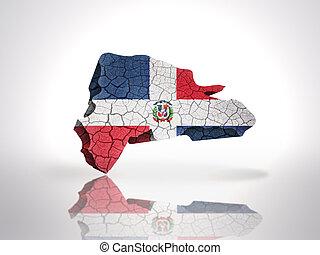 dominicano, mapa, república