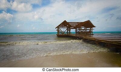 dominikański, irma, huragan, burza, republika, morze, chmura