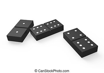 domino 2 - domino isolated on white background