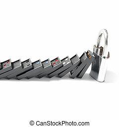 domino and padlock
