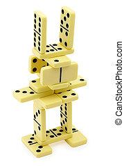domino, bizzarro, costruzione