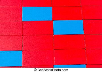 domino, blocos, coloridos