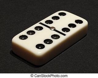 Domino - double six - White double six domino isolated on ...
