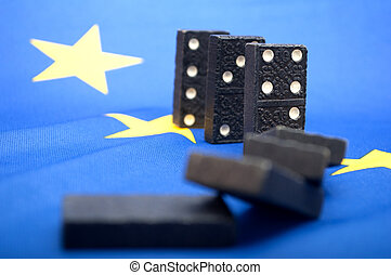Domino Effect - Financial Crisis in European Union - Shallow...