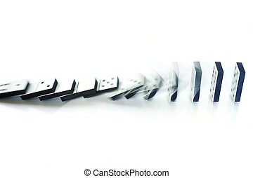 Domino effect - Illustration of domino effect