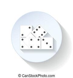 Domino flat icon